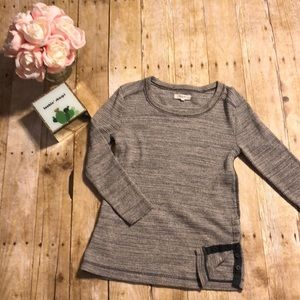 Madewell Thermal Side Button Tee in Natural- Small